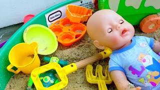 Эльвира КАК МАМА Игры в песочнице  ПРО БЕБИ БОРН  Игры с детьми летом челлендж