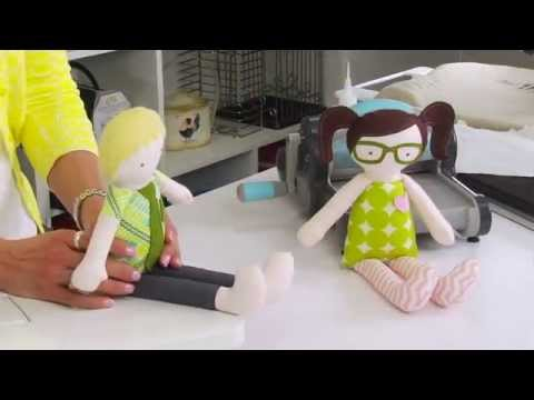 From the Sizzix Quilting Workshop: Create a Doll to Fall for by Kid Giddy/Kerry Goulder