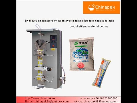 SP ZF1000 embolsadora de leche 1000ml bolsa