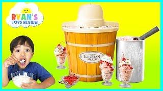 ICE CREAM MAKER Machine! Makes REAL YUMMY ICE CREAM