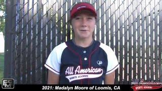 2021 Madalyn Moore Power Hitting Shortstop Softball Skills Video