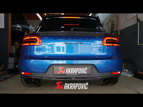 Porsche Macan with Akrapovic full exhaust system amazing sound