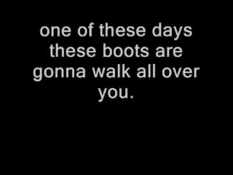 These Boots Are Made for Walking With Lyrics Nancy Sinatra