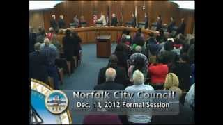 Formal 12/11/12 Session - Norfolk City Council