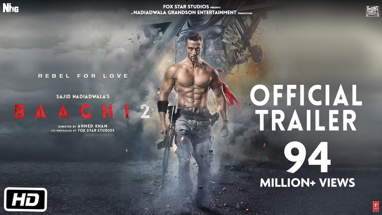 Tiger Shroff starrer BAAGHI 2 action movie trailer