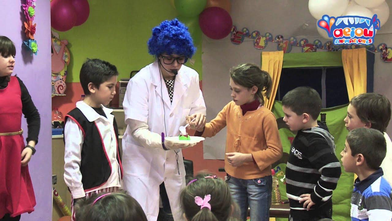 Animación científica a domicilio para Fiestas Infantiles Cumpleaños Experimentos