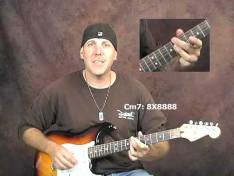 Beginner Jazz guitar chords progressions 2 5 1 changes strums music theory lesson pt1