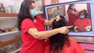 Easy 1 Stroke Haircut With Layers And Steps In Dry Hair / बहुत ही सरल तरीके से 1 स्ट्रोक हेयरकट करें
