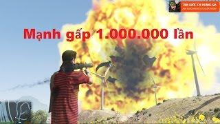 GTA 5 - Tăng sức mạnh ROCKET lên 1.000.000 lần? Nát Hết Lun !!