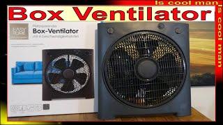 ALDI Angebot Box Ventilator ❆ Vorstellung und erstes Einschalten [ Sommer 2020 ] 24/7 TopTipp Review