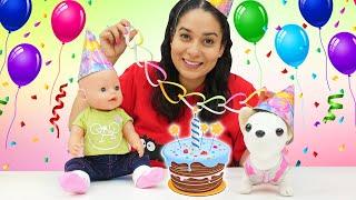 Spielspaß mit Baby Born. Zum Geburtstag viel Glück, Chi Chi Love! Puppen Video für Kinder
