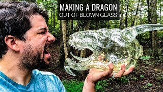 Making A DRAGON Out Of Blown Glass By Grant Garmezy