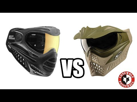 DYE Axis Pro vs GI Sportz Vforce Grill | Paintball Mask Comparison | Goggle Comparison
