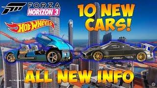 Forza Horizon 3 - HOT WHEELS EXPANSION - ALL 10 CARS & INFORMATION!