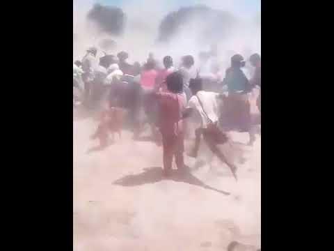 Video: Crudas imágenes de como reciben la ayuda en Santa Victoria Este