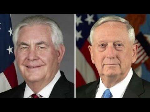 Tillerson, Mattis urge China to act on North Korea