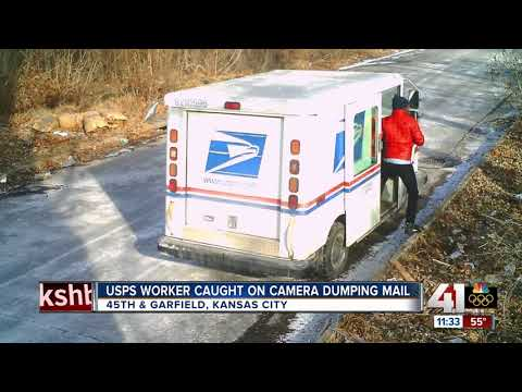 USPS worker caught dumping mail in KC, city says