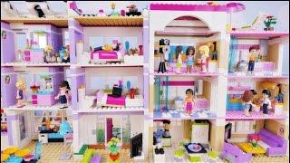 Domówka w nowych domach - Bajka po polsku z klockami Lego Friends odc. 63