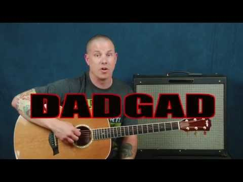 Guitar lesson learn DADGAD Alternate Tuning for acoustic or electric chords licks create new sounds