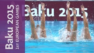 DAY 0 Replay Synchronised Swimming Teams Free Routine | Baku 2015 European Games