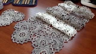 Платье (сарафан) крючком. Ленточное кружево. Часть 3. Соединяем ленты.