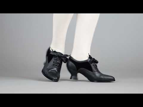 PRE-ORDER Lucille Women's Edwardian Oxfords (Black/Black)