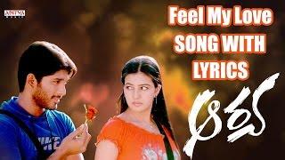 Feel My Love Song Lyrics from Aarya - Allu Arjun