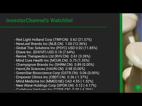 InvestorChannel's Psychedelics Watchlist Update for Monday ... Thumbnail