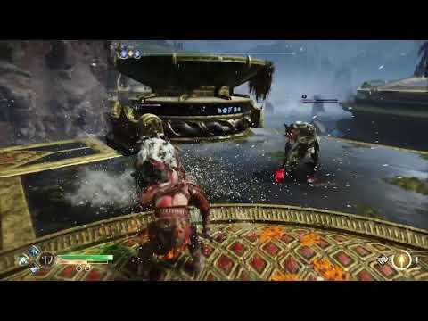GoW: combat contre 2 ennemis violets en hard (sans spoiler)