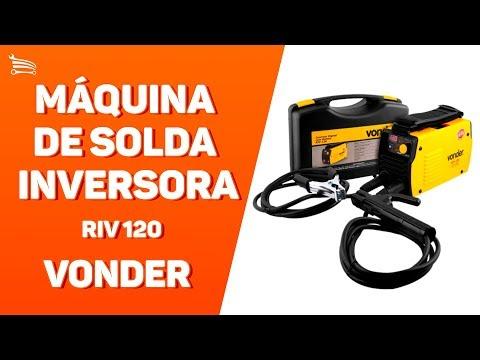 Máquina de Solda Inversora RIV 120 A 220V Monofásico com Display Digital e Maleta - Video
