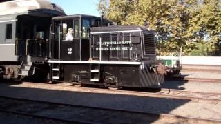 Moving Train Cars At The California Railroad Museum
