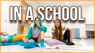 Overnight Challenge in a School *Kicked Out*