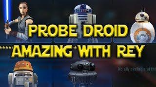 Probe Droid Is Amazing w/ Rey Jedi Training | Star Wars: Galaxy Of Hereoes - SWGoH
