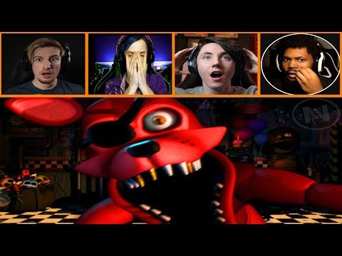Let's Players Reaction To Rockstar Foxy's Jumpscare | Fnaf Ultimate Custom Night
