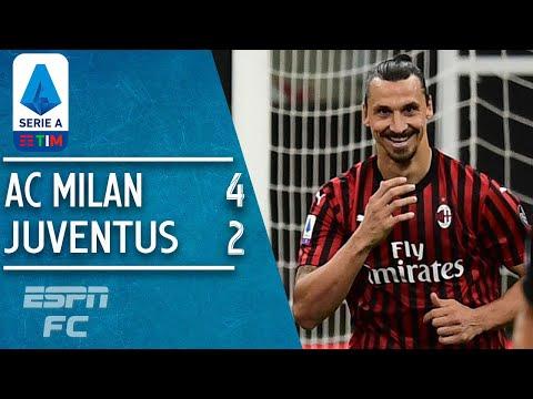 Zlatan Ibrahimovic sparks AC Milan's STUNNING 4-2 comeback vs. Juventus   Serie A Highlights
