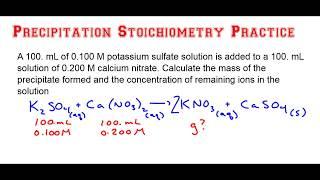 Precipitation Stoichiometry Practice Problem