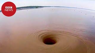 Vídeo capta redemoinho capaz de 'engolir' barco em lago nos EUA