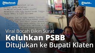 Viral Bocah Bikin Surat Keluhkan PSBB ke Bupati Klaten, Minta Ayahnya Bisa Jualan Sampai Malam