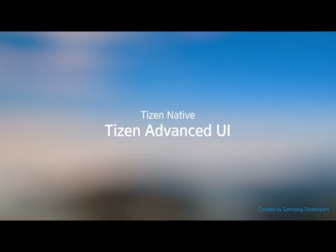 [Web] TAU: Tizen Advanced UI