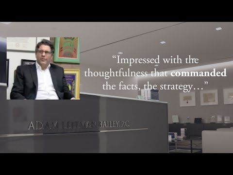 """Impressed with the Thoughtfulness That Commanded the Facts, the Strategy…"" testimonial video thumbnail"