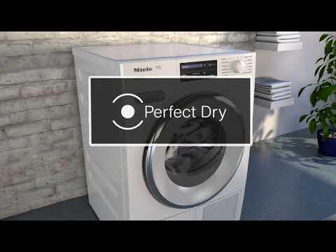 Miele Freestanding Condenser Tumble Dryer Heat Pump TCB140WP - White Video 3
