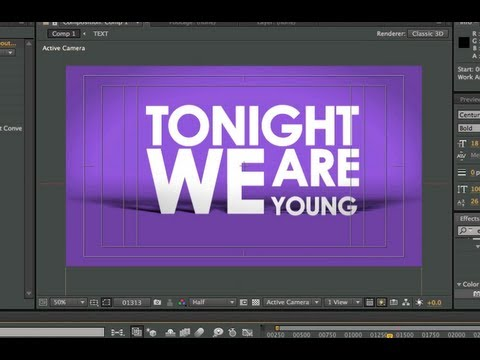After Effects Tutorial – Basic Typography & Motion Graphics