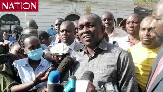 MP Oscar Sudi speaks after being released on bail