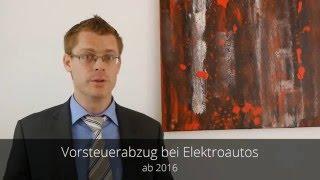 Steuerreform 2016 - Vorsteuerabzug für Elektroautos