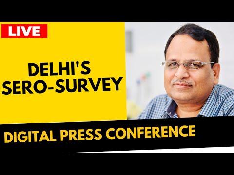 🔴LIVE | Hon'ble Health Minister Sh. Satyendar Jain on Delhi's Sero-Survey | Delhi Fights Corona