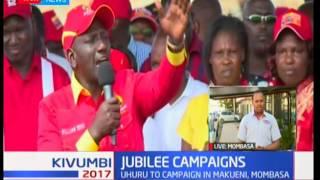 President Uhuru takes vote hunt mission to Makueni and Mombasa