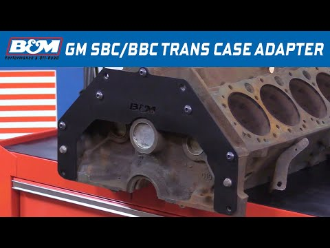 B&M Trans Adapter Plate 30497 - SBC/BBC to Buick, Olds, Pontiac TH350, TH400, TH700R4