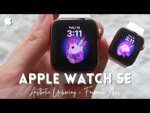 aesthetic apple watch SE unboxing + APPS!!