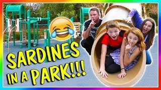 SARDINES AT THE PLAYGROUND | HIDE AND SEEK | We Are The Davises