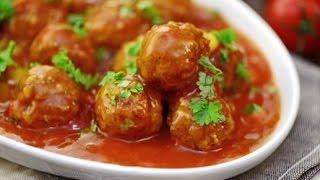 Фрикадельки в томатном соусе. Домашние рецепты